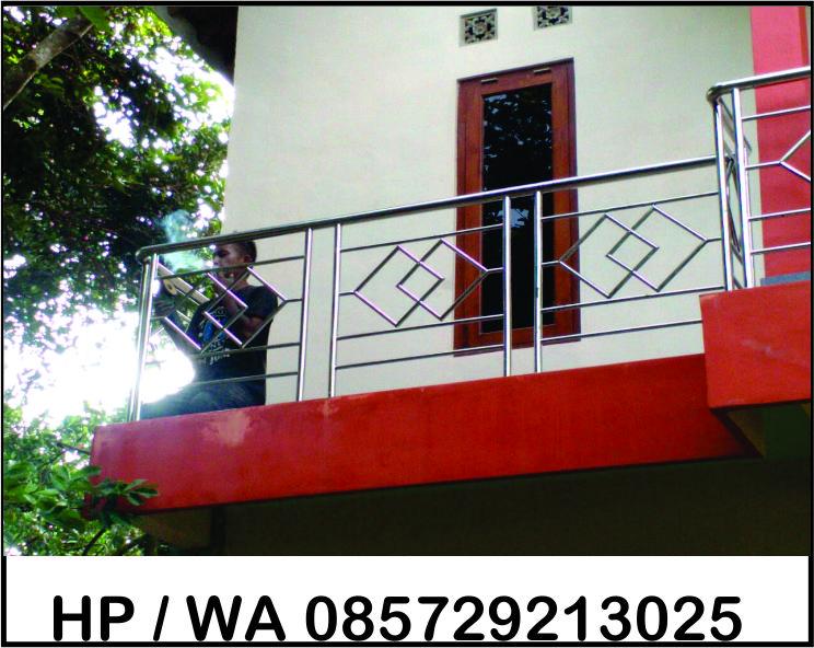 Model Balkon Stainless Steal di Jogja