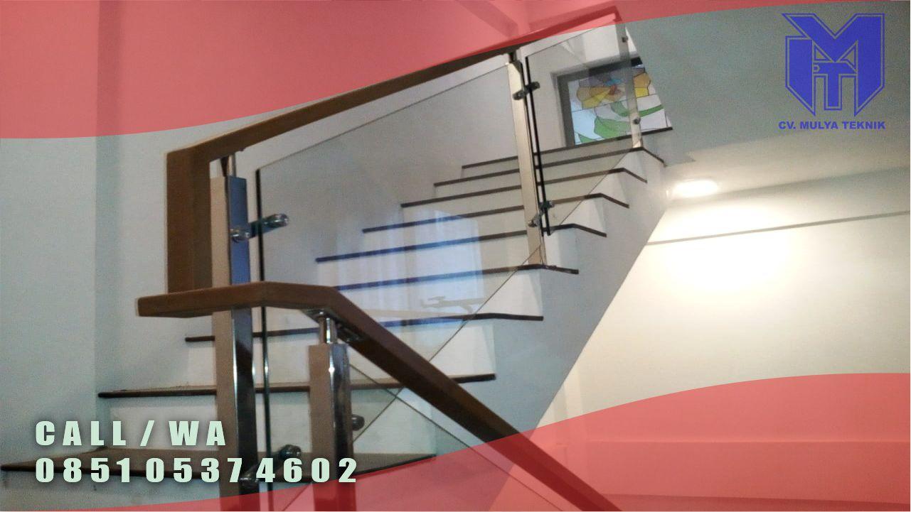 Jasa Pembuatan Railing tangga Kaca Sleman